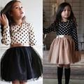 Fashion Wunter Baby Dress For Girl Long Sleeve Princess Girls Dresses Polka Dot Girls Birthday Party Dress Casual Baby Clothes