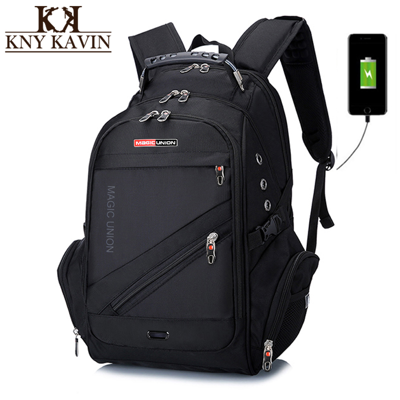 KNY KAVIN Men Backpack USB Charger 15.6 Inch Laptop Notebook Ruckback Male Fashion Multifunction Large Capacity Travel Backpack женская обувь на плоской подошве 88 qi feng zzz2681 10 zzz2681 7
