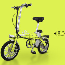 14-inch 48vJapan  aluminum alloy lithium battery adult electric bicycle portable bike,Double disc brake Folding MBX