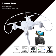 New RC Drone with HD WIFI Camera 2.4G 4CH FPV Quadcopter Wifi Real Time Transmit RC Helicopter Altitude Hold Gift for Boys