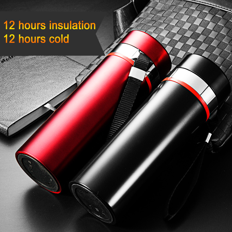 YiHAO 500ML 600ML Hot Sale Stainless Steel Vacuum Flasks Straight Cups Creative Vacuum Flasks Cars Coffee Cup Water Bottle