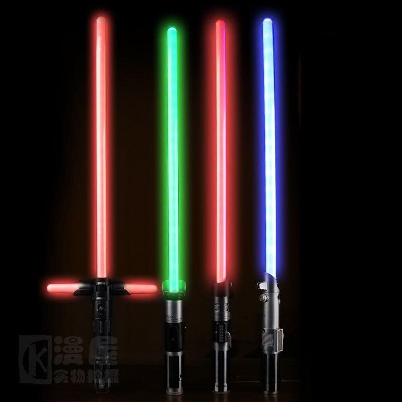 85 cm Star Wars sabre laser DIRIGE KYLO REN rouge croix sabre laser Led Lumière Épée Jouets PVC Cosplay Armes jouets pour garçons cadeau de noël