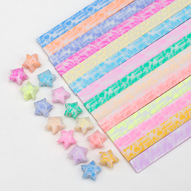 600pcslot I Love You Luminous Stars Paper Origami Lucky Stars Paper