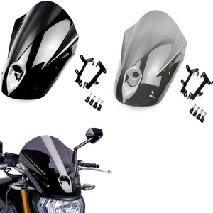 MT09 FZ09 ABS Motorcycle Windshield Windscreen with Mounting Bracket Screws for Yamaha MT-09 FZ-09 FZ MT 09 2013 2014 2015 2016