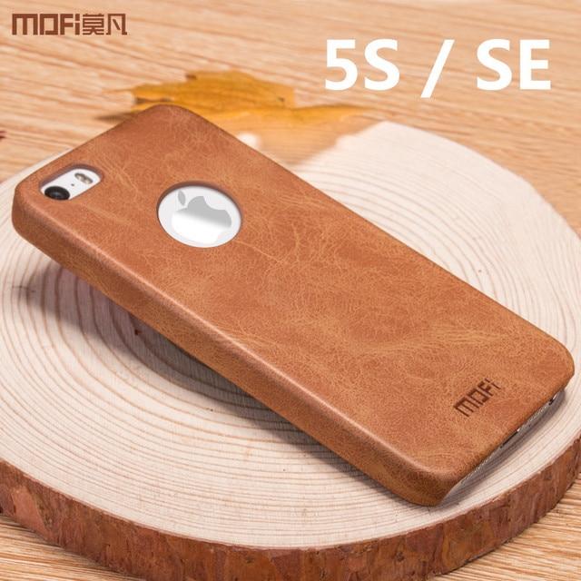 cheaper ea0f7 88087 US $9.99  5s case for iphone SE case cover for iphone 5s case MOFi original  leather back cover hard capa coque funda brown gray blue 4.0