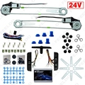 New DC24V Car/Truck Front 2-Doors Electric Power Window Kits with Switches and Harness #FD-3844