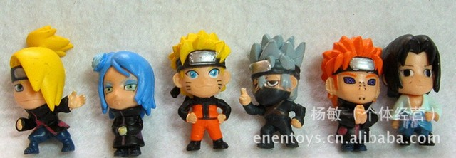 2013 NEW,Japan Anime naruto toy, key chain,PVC Figure, the toys for boy/boys/girl/girls/baby/kids/children's, 6pieces/set