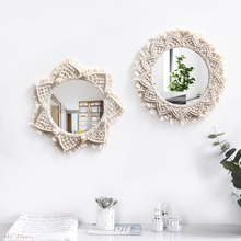 Hand-woven macrame mirror model room decoration vanity home bedroom wall dressing