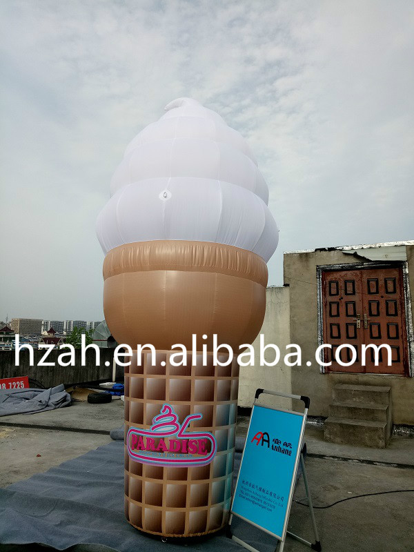 Giant Inflatable Ice Cream Cone for Outdoor Advertisement Decoration giant inflatable balloon for decoration and advertisements