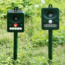 Solar Power Ultrasonic Animal Repeller Outdoor Cat Dog Animal Chaser Deterrent Repellent Garden Pest Control