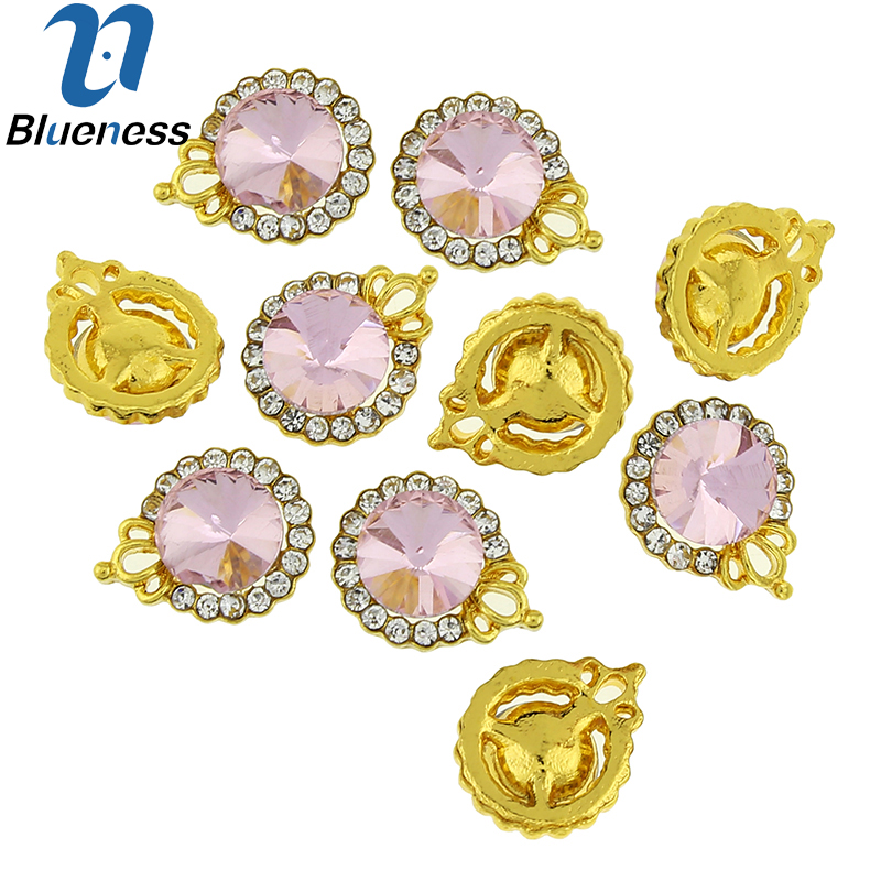 Blueness 10 Pcs Charms Imperial Crown Hollow Gold Alloy Design Charms  Rhinestones Nail Art Decorations 3D DIY Accessories TN1797-in Rhinestones  ... 9edc1149969c