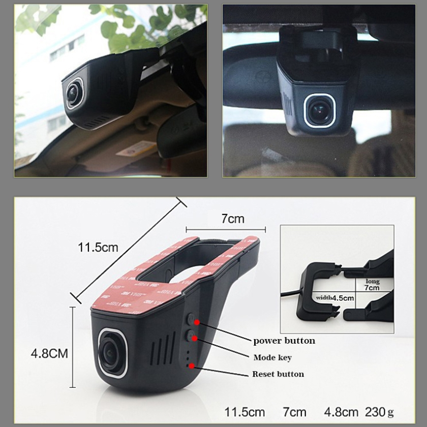 For Ford Focus/ Car Driving Video Recorder DVR Mini Control APP Wifi Camera Black Box / Registrator Dash Cam Original Style for vw caddy car driving video recorder dvr mini control app wifi camera black box registrator dash cam original style