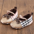 Branded Classic Plaid Princess Firstwalker Baby Shoes Infant Toddler Chaussure Soft Sole Crib Sneakers Knot-Bow Bebe Sapatos