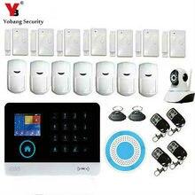YobangSecurity WiFi 3G WCDMA/CDMA RFID Wireless smart Home Security Alarm System Wireless IP Camera Flash Siren IOS Android APP