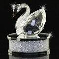 Brilhante Clear/Champagne Cristal Cisne Figurinhas Presente de Natal cheio de Strass Decoração Para Casa interior Automotivo DEC123
