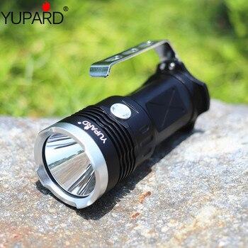 YUPARD 3 * XM-L2 LED T6 זרקור זרקור פנס לפיד מנורת אור 18650 סוללה 5500 Lm + 4*2200 mAh 18650 סוללה + מטען
