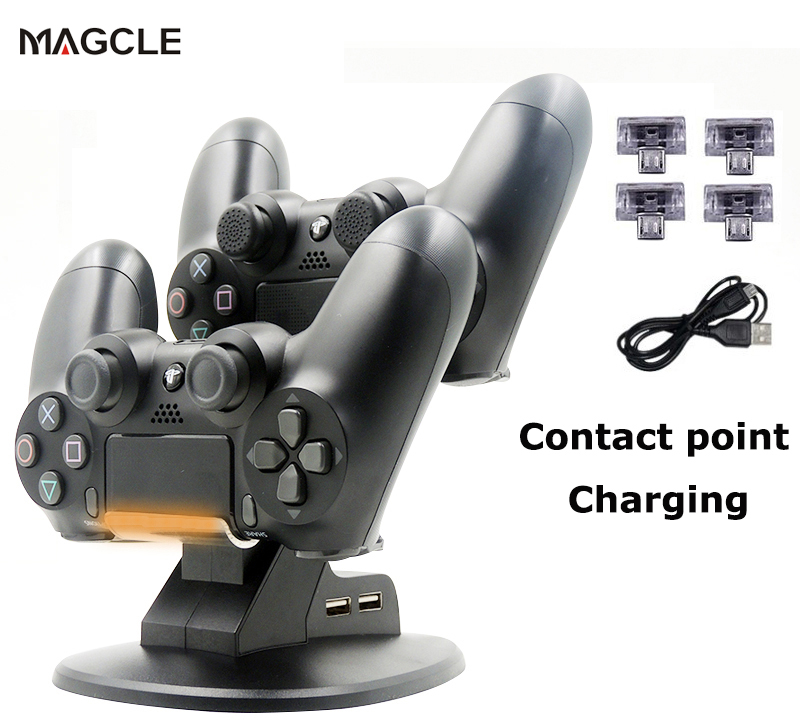 Magcle Dual Controllers Charger Charging Dock Stand Station For Sony PlayStation 4 PS4 PS 4 Game Gaming Wireless Controller