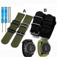 Hot Sale Garmin Nylon Watchband 26mm Luxury Nylon Watch Replacement Band For Garmin Fenix 3 Black