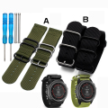 Hot sale Garmin Nylon Watchband 26mm Luxury Nylon Watch Replacement Band For Garmin Fenix 3 Black | Green with tools