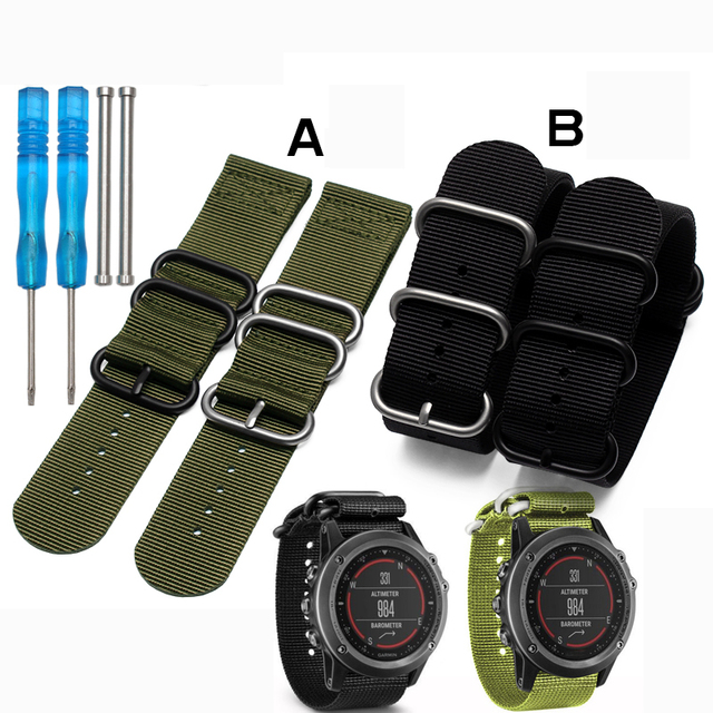 Vendita Calda Garmin Nylon Cinturino 26mm Di Lusso In Nylon Orologio