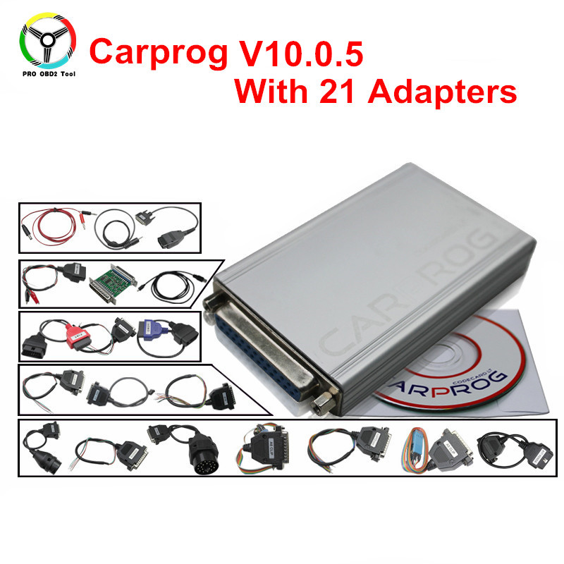 High Quality Carprog V9.31 SW 10.0.5 Carprog Full Newest Version Repair ECU Chip Tunning Excellent Car Prog Programmer Tools 20pcs lot ap9997gh 9997gh