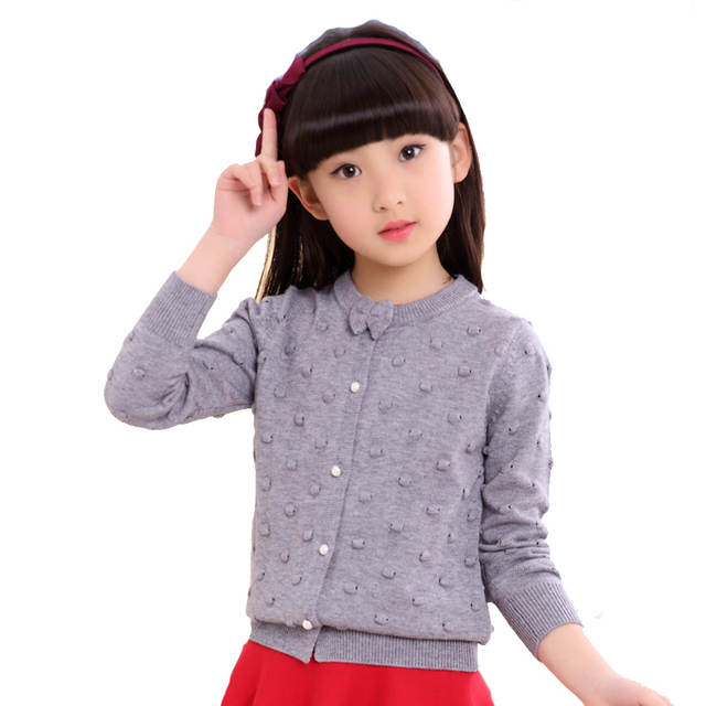 8c8aaa30304d Online Shop Girls Cardigan Cotton Knitted Sweaters For Girls ...