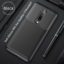 Carbon Fiber Protective Case For OnePlus 7/7 Pro/6/6T Silicon Soft Case TPU Cover Shockproof Back Cover For Oneplus 7 Phone Case