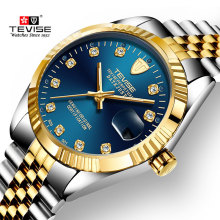 TEVISE Mens Watches Men Automatic Mechanical Watch Stainless Steel Date Waterproof Business Wristwatch Relogio Masculino