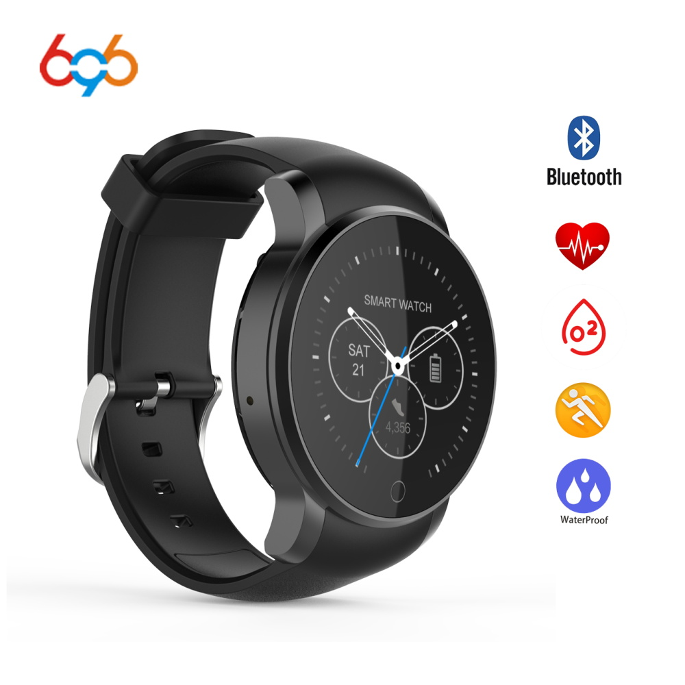696 09S Waterproof Smartwatch Bluetooth Smart Watch With Alarm Phonebook Voice Record Heart Rate Monitor For Android IOS SMA-09 sma r dual bluetooth smart watch