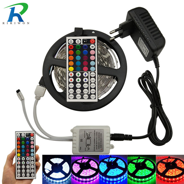LED Strip 5050 RGB Flexible Light RGB LED Strip 5m 10m DC12V TV Background  Lighting Adhesive