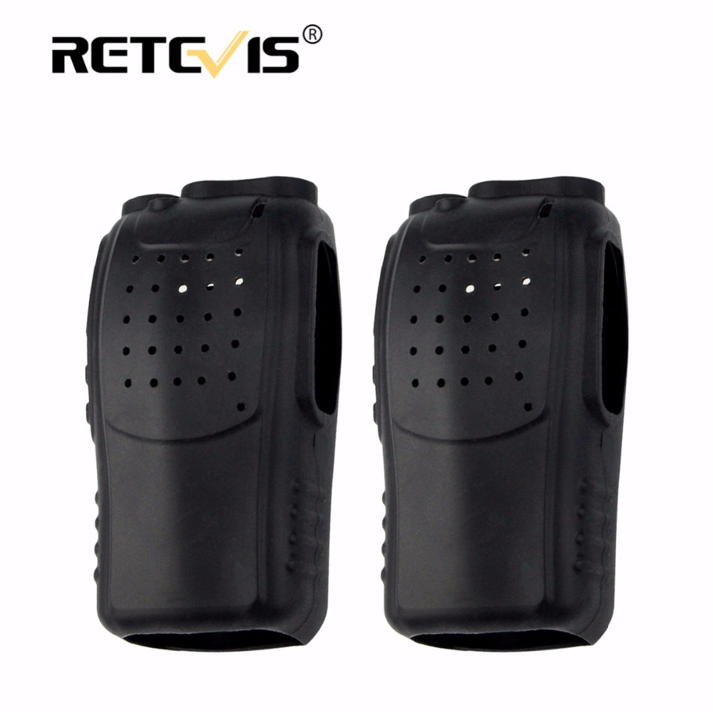 2pcs Soft Rubber Silicon Case Holster Walkie Talkie Holster For Baofeng BF-888S 888S Retevis H777 H-777 2 Way Radio J9104H
