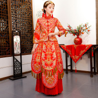 Red Bride Wedding Qipao Traditional Chinese Dress Women Cheongsam Modern Vestido Oriental Style Dresses Robe Long Qi Pao