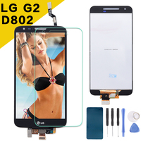 Original LCD For LG G2 D802 Display Touch Screen Digitizer Assembly Display For LG G2 D802