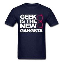 Retro T Shirts Geek Gangsta O-Neck Short Sleeve Best Friend Mens Shirts