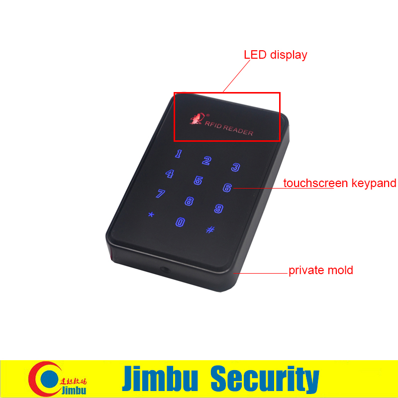 ФОТО standalone access controller DC12V current <100MA 13.56MHZ reading frequency open way :card ,password ,card with password