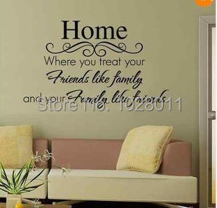New fashion love home english words family and friends removable new fashion love home english words family and friends removable wall sticker vinyl wall quotes p3 publicscrutiny Choice Image