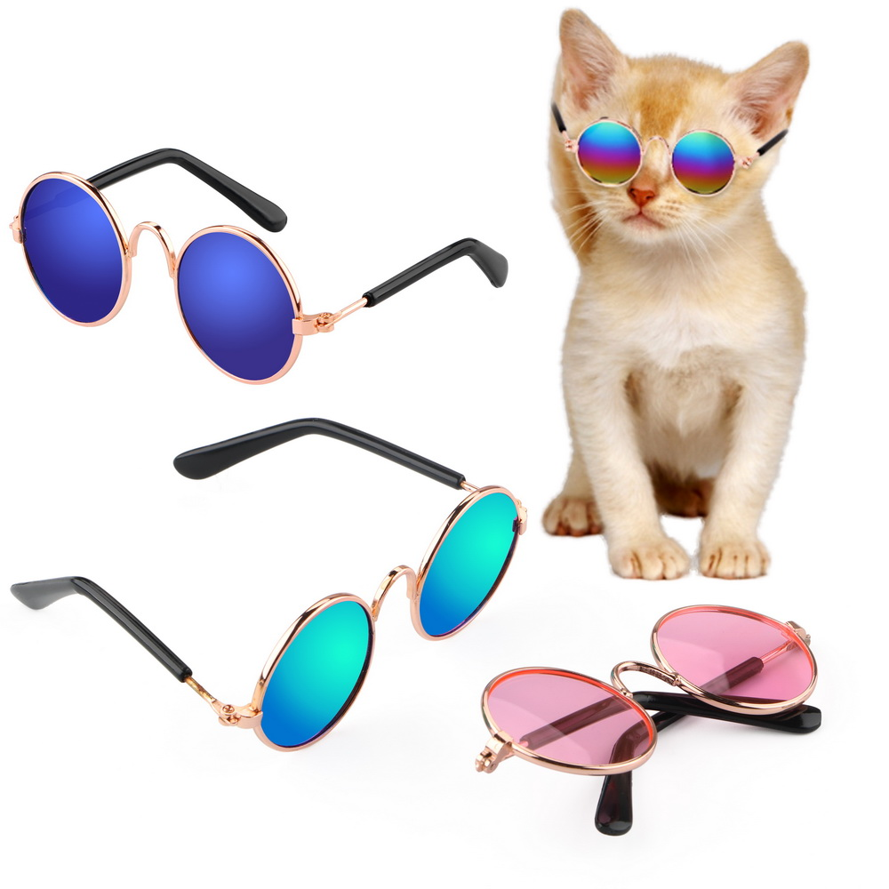8 5cm Length Sunglasses font b Pet b font Cat Glasses Photos Props Accessories font b