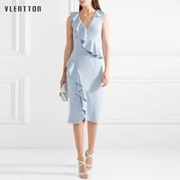 Fantaist Women Summer Dresses Vestidos Elegant Cocktail Party Bodycon Pencil Dress 2018 New Office Lady Dress