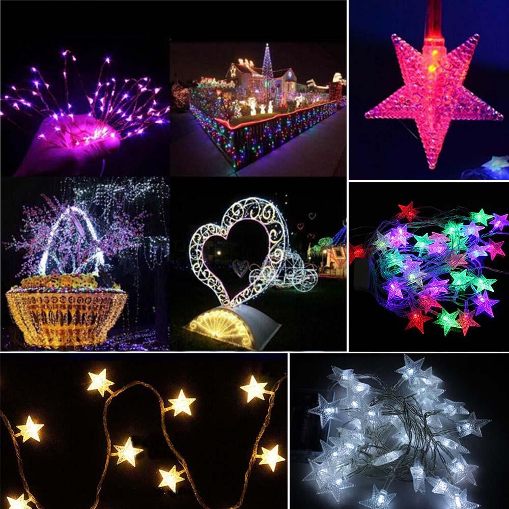 10M 70 Led Christmas Tree Snow Star Bulbs Led String Fairy Night Light Xmas Party Wedding Outdoor Garden Garland Bar Decoratio