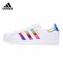Original Authentic Adidas SUPERSTAR Shamrock Men and Women Unisex Skateboarding Shoes Lightweight Wear-resistant S81015