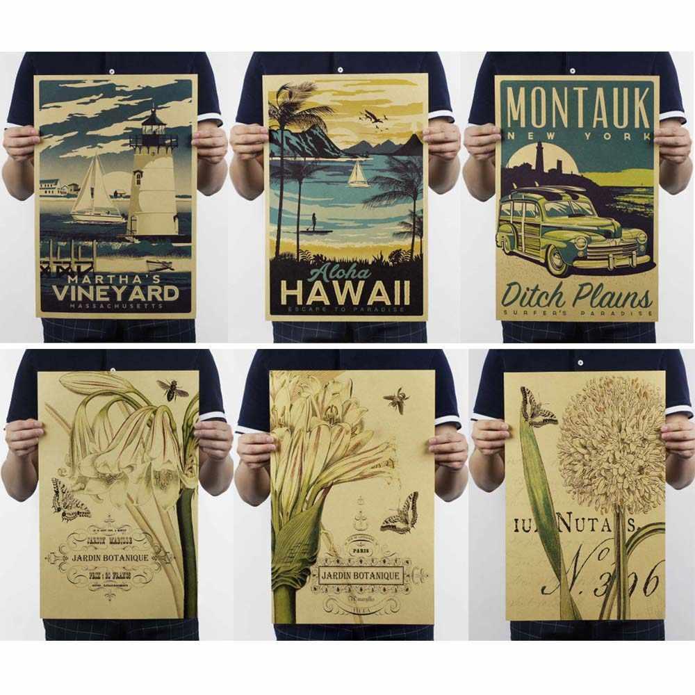 الملصقات والمطبوعات/Vintage نيويورك المشارك ملصقات جدار القهوة الزينة المطبخ الرجعية غرفة المعيشة اللوحة الزخرفية