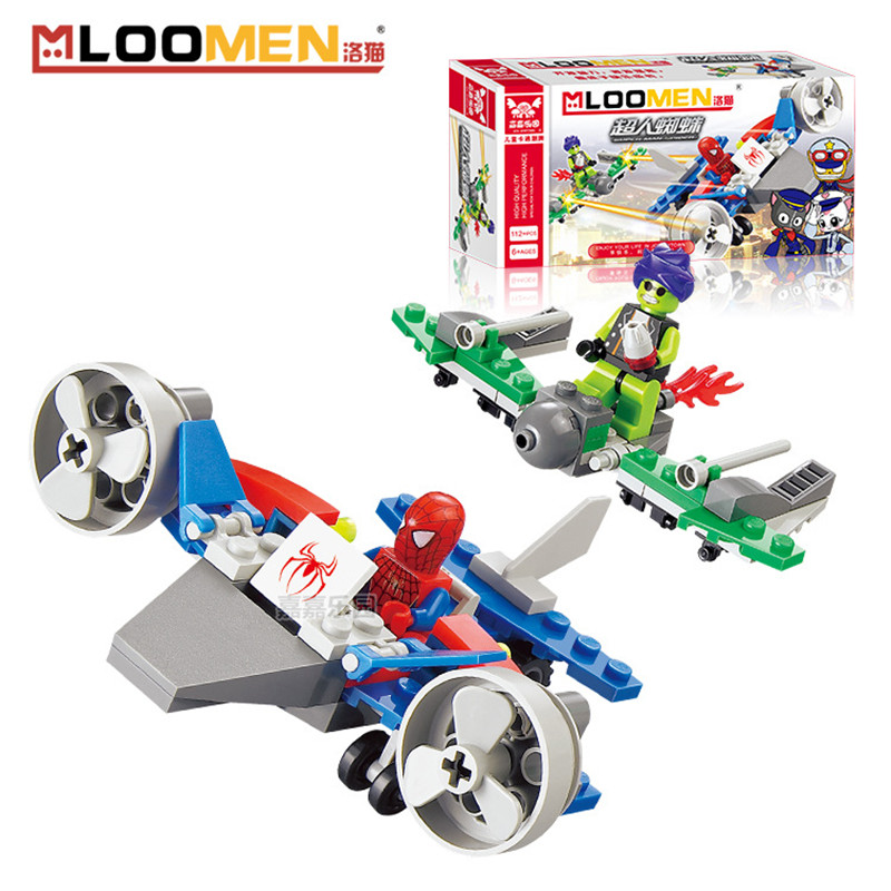 Toy Building Set For Boys : Mloomen spider super man blocks toy creative diy building