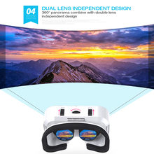 VR SHINECON 5.0 Glasses Virtual Reality 3D Glasses For iPhone/Samsung/Huawei Xiaomi 4.7-6.0 inch Phones Universal