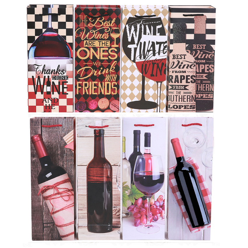 Wine Beverage Gift Bag Bundle With Tissue Paper 10 Pieces NEW