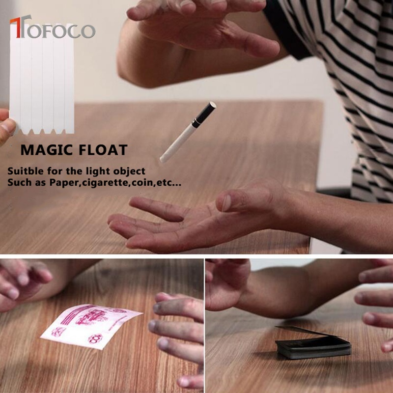 TOFOCO New 1Pcs Elastic Stretch Invisible Hidden Coil Thread Loops Haunted Magic Trick Float Joke Prank Trick Fun Toy Novelty prank chips bounce snake trick toys