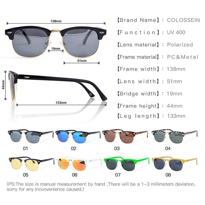 COLOSSEIN Gafas de sol redondas polarizadas para hombre Moda clásica - Accesorios para la ropa - foto 5