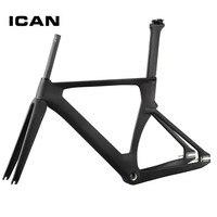 ICAN Professional UD матовая 49/51/54/56 см BSA односкоростной карбоновый велосипедная Рама