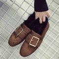 AVVVXBW Новый Сингл Обувь Мода Зима Теплая Обувь Большой Пряжки Ремня Меховой Обуви Норки Тепловой Комфорт женская Обувь мокасины