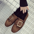 AVVVXBW New Single Shoes Fashion Winter Warm Shoes Big Belt Buckle Fur Shoes Mink Fur Thermal Comfort Women's Shoes Loafers