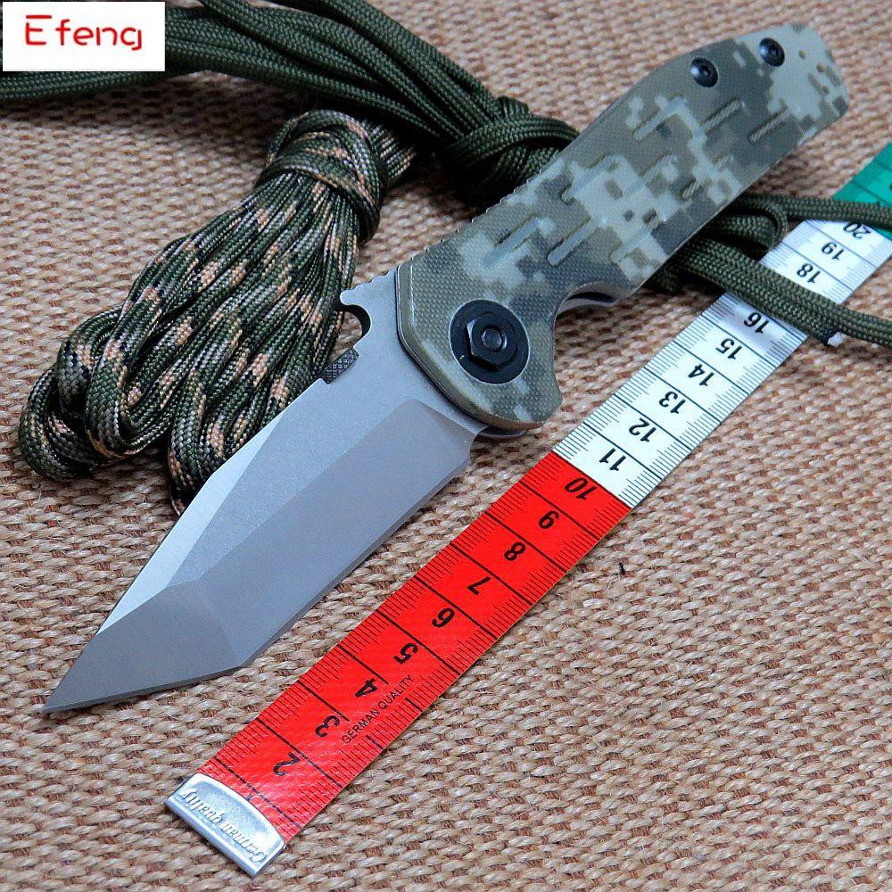 Efeng 0620 Folding Knife 9Cr18mov Blade G10+Steel Handle Bearing Tactical Knife Camping Hunting Knives  цены